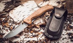 Складной нож Валдай, сталь 95х18, орех, фото 2