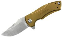 Складной нож Les George Design KVT® Flipper, Gold Anodized Titanium, Limited Time