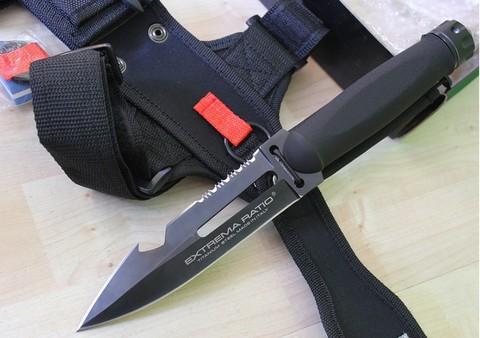 Нож-кинжал пловца Extrema Ratio Ultramarine Con Asola, сталь Böhler N690, рукоять полиамид. Вид 3