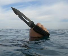 Нож-кинжал пловца Extrema Ratio Ultramarine Con Asola, сталь Böhler N690, рукоять полиамид, фото 4