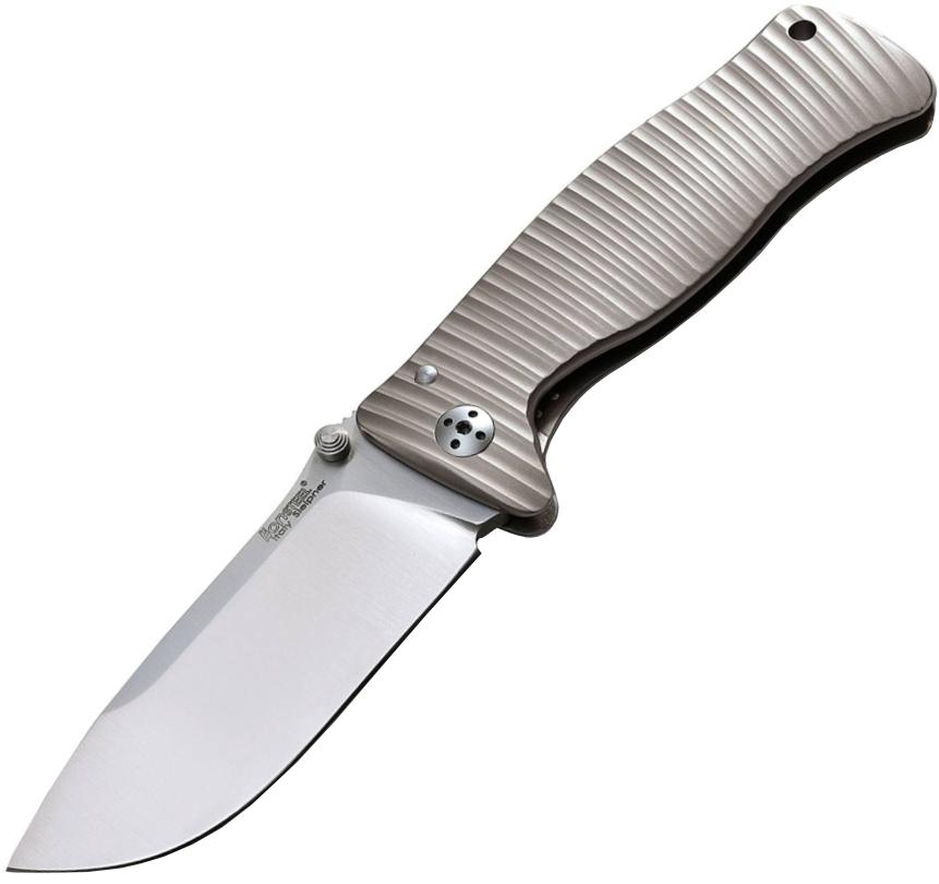 Нож складной LionSteel SR1 G, сталь Sleipner, рукоять титан от Lion Steel