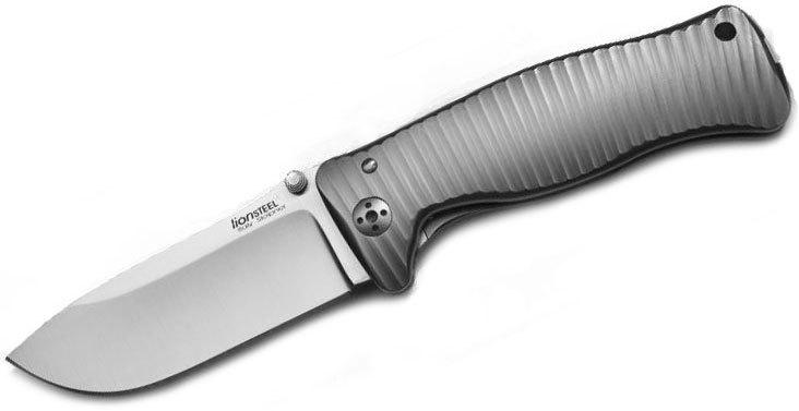 Фото 4 - Нож складной LionSteel SR1 G, сталь Sleipner, рукоять титан от Lion Steel