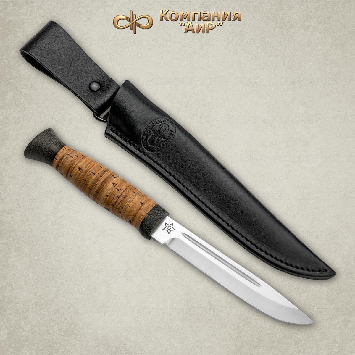 Нож разделочный АиР Финка-3, сталь ЭП-766, рукоять береста