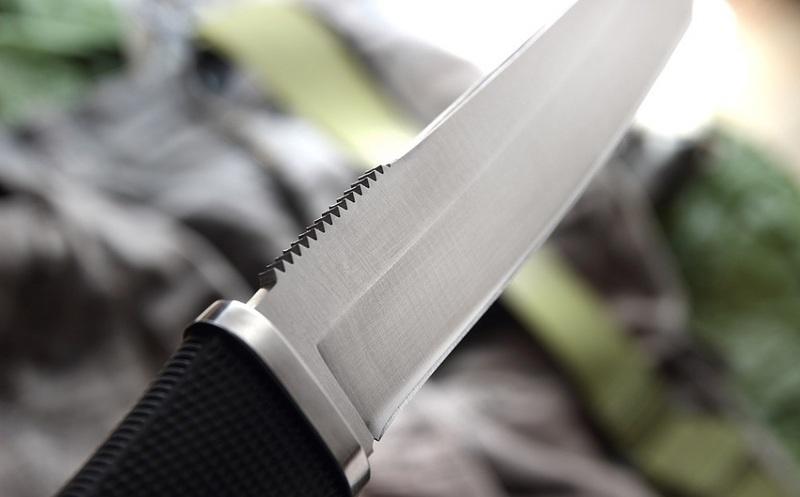 Фото 9 - Нож с фиксированным клинком Tsunami 16.0 см. - SOG TS01R, сталь AUS-8, рукоять Kraton® резина