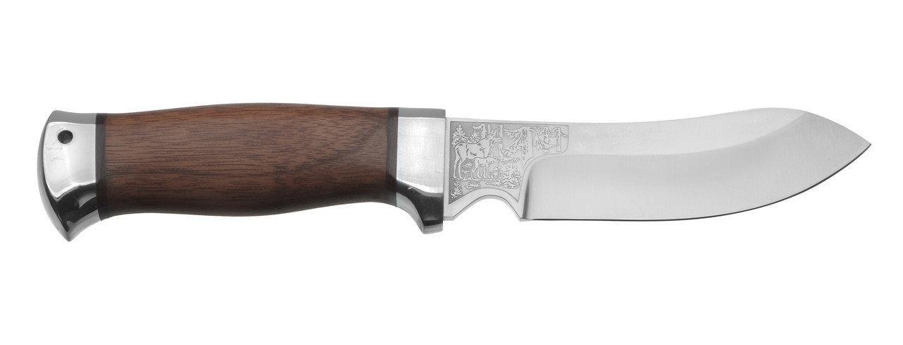 Нож разделочный Скинер-2 дерево, 95х18, АиР нож южный 2 в бересте 95х18