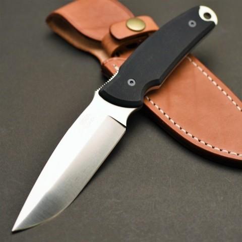 Туристический нож G.Sakai, Green Hunter Fixed, сталь VG-10, черный G-10, в подарочной картонной коробке. Вид 1