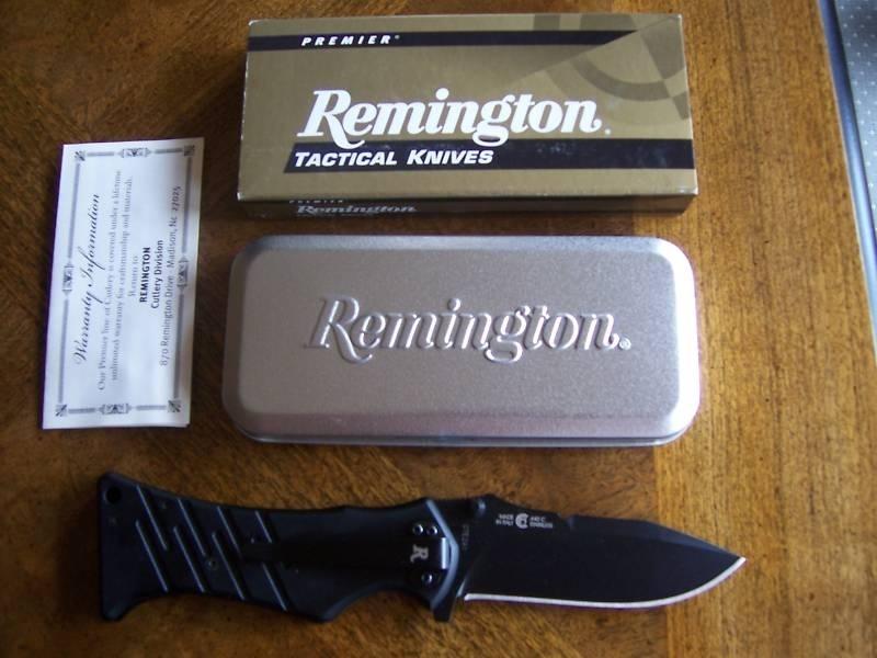 Фото 4 - Нож складной Echo Series II Clip Point Military Coated 8.7 см. от Remington