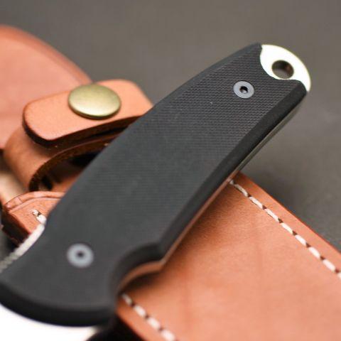 Туристический нож G.Sakai, Green Hunter Fixed, сталь VG-10, черный G-10, в подарочной картонной коробке. Вид 2