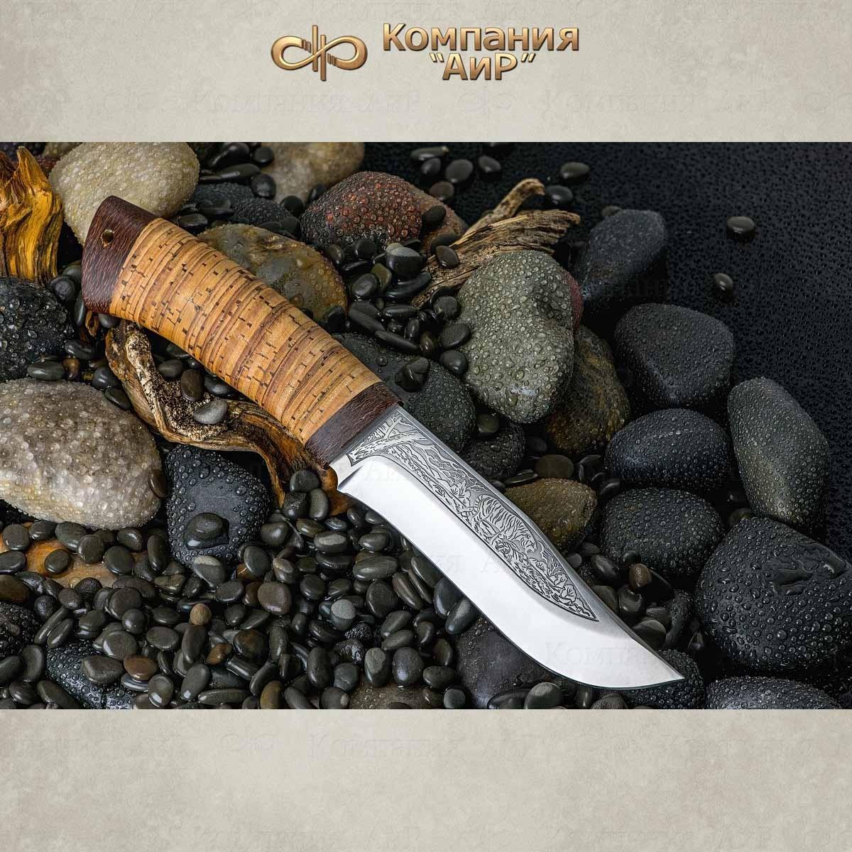 Нож разделочный АиР Клычок-3, сталь М390, рукоять береста