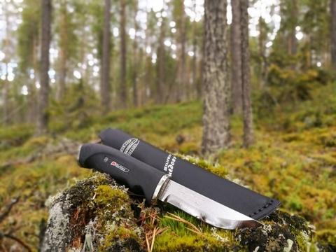 Нож Marttiini Silver Carbinox, сталь X50C8, рукоять резина. Вид 4