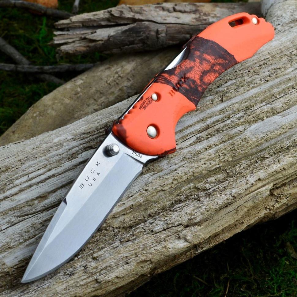 Фото 3 - Складной нож Buck Bantam BHW Mossy Oak Blaze Camo 0286CMS9, сталь 420HC, рукоять пластик