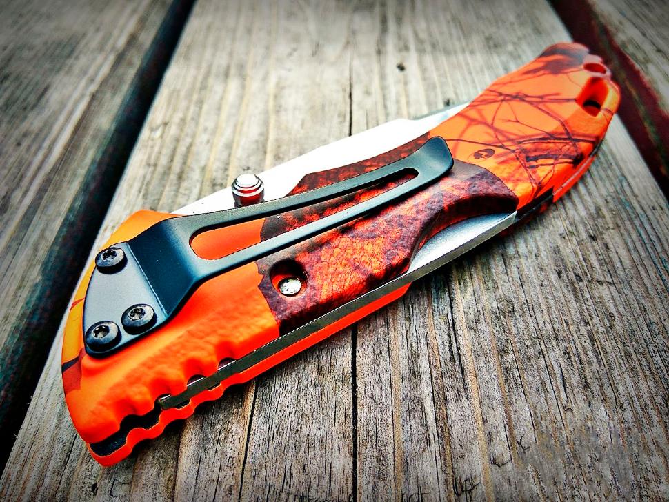 Фото 4 - Складной нож Buck Bantam BHW Mossy Oak Blaze Camo 0286CMS9, сталь 420HC, рукоять пластик
