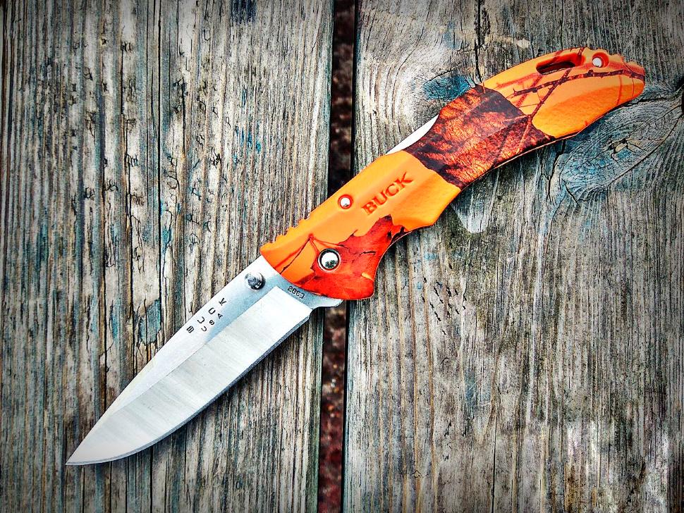 Фото 5 - Складной нож Buck Bantam BHW Mossy Oak Blaze Camo 0286CMS9, сталь 420HC, рукоять пластик