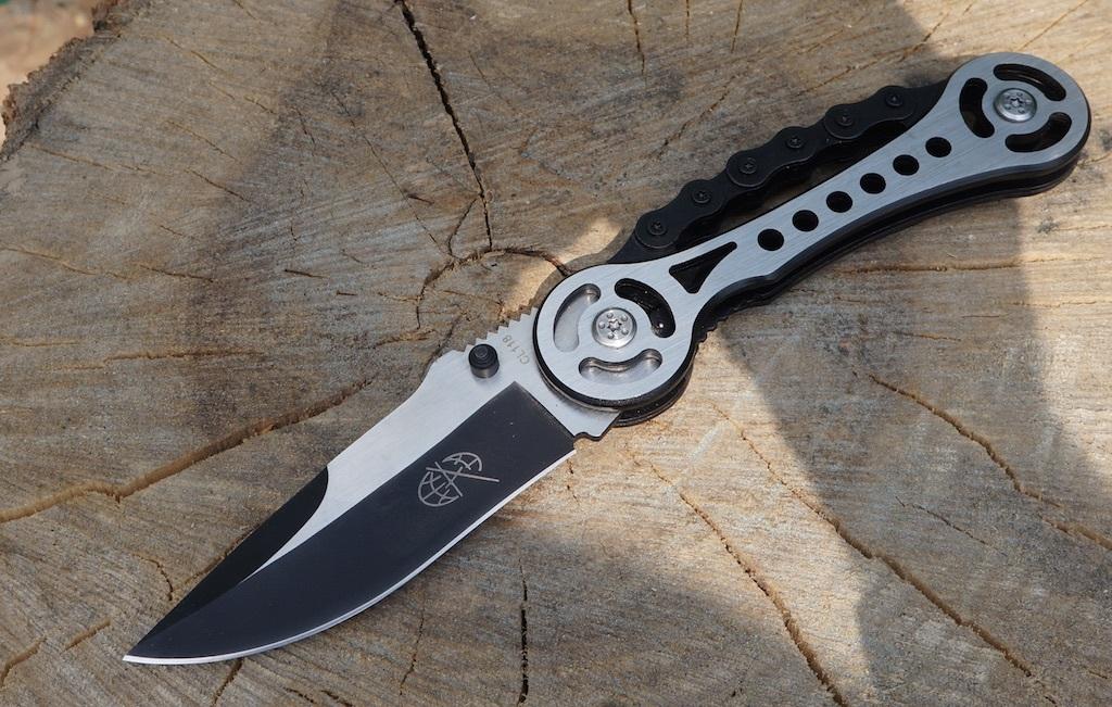 Фото 7 - Нож складной Байкер CL118 от Pirat