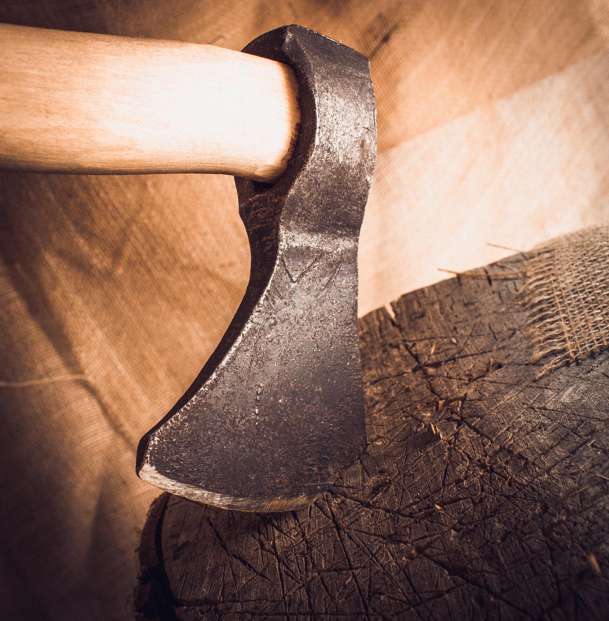 Фото 13 - Кованый топор ручной сборки Олень