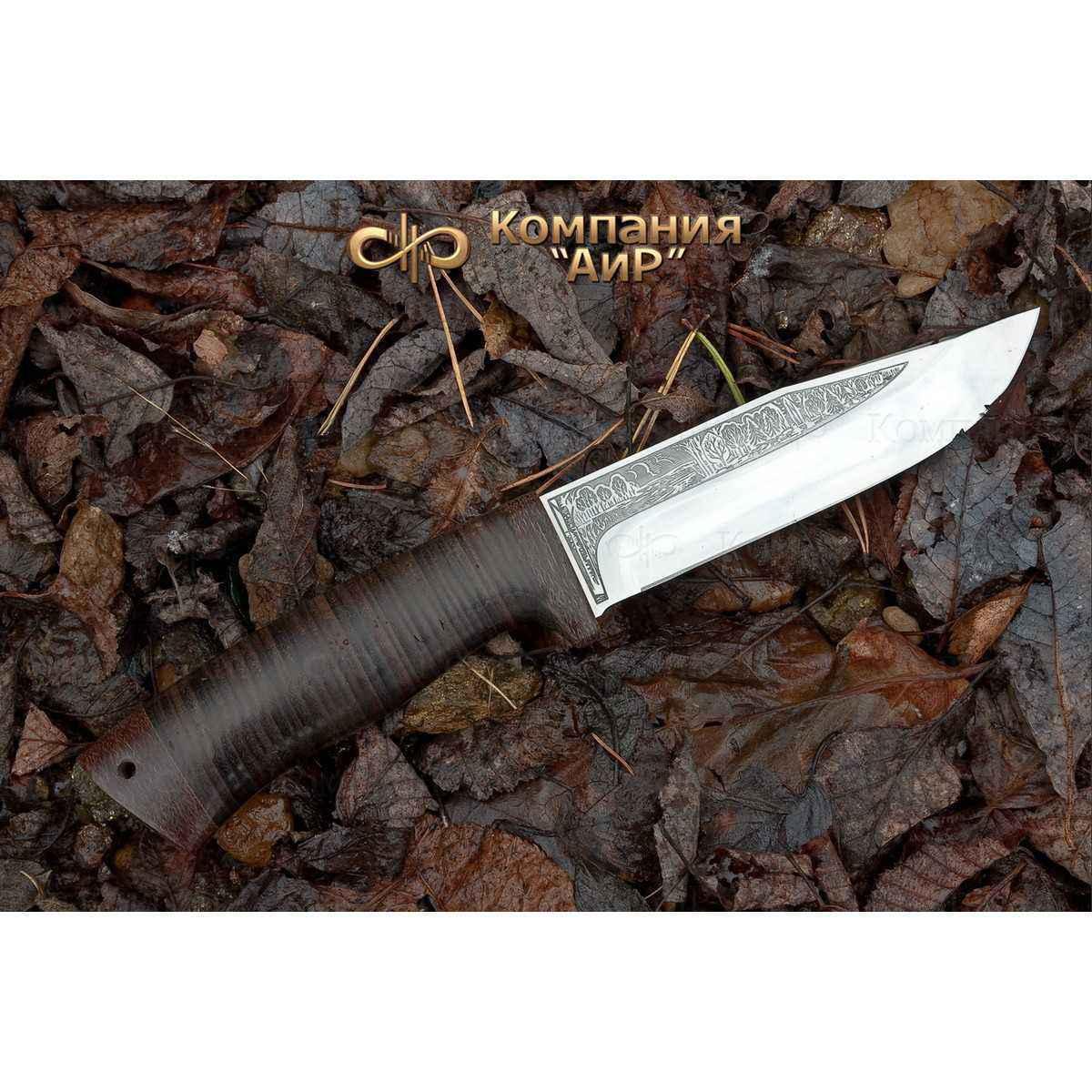 Нож АиР Турист, сталь M390, рукоять кожа фото