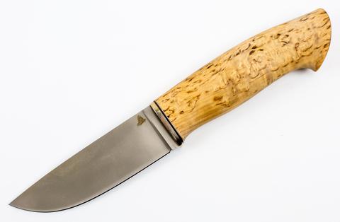 Нож Кроха-4, Vanadis 10, мельхиор, карельская береза - Nozhikov.ru