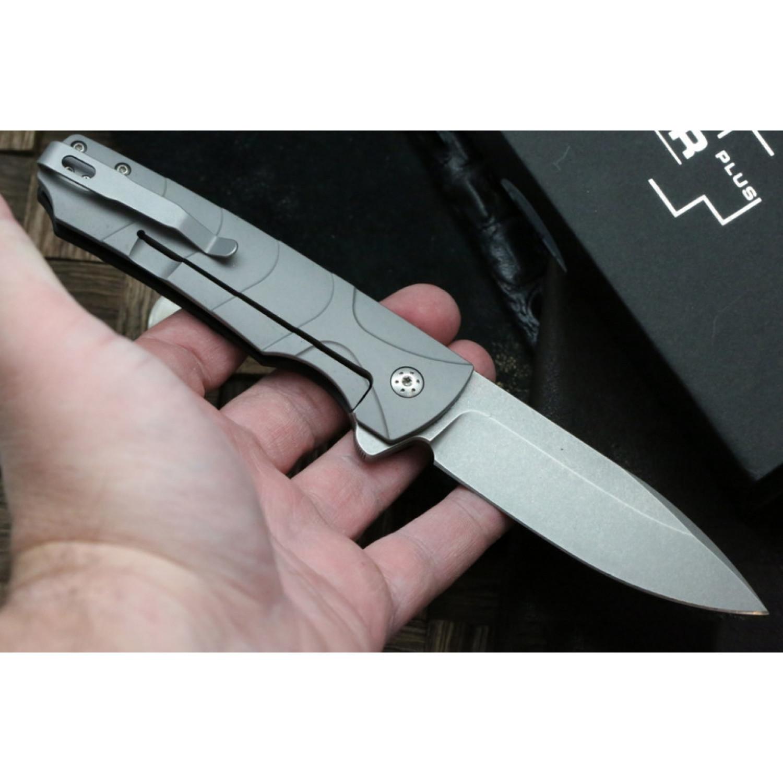 Фото 10 - Нож складной Ridge - Boker Plus 01BO262, сталь D2 Stonewashed, рукоять стеклотекстолит G10/нержавеющая сталь, чёрный