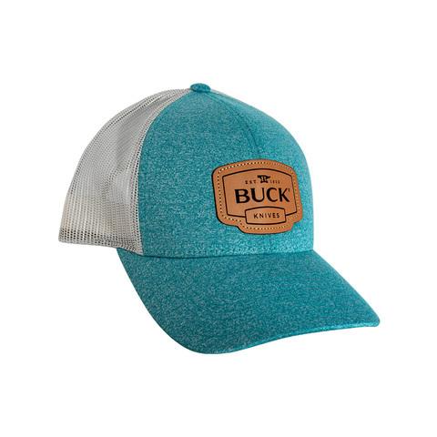 Бейсболка Buck Womens Leather Patch женская, бирюзово-серая