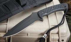 Нож с фиксированным клинком Horkos (Black SpartaCoat/Black Micarta/Black Sheath) 14.5 см.