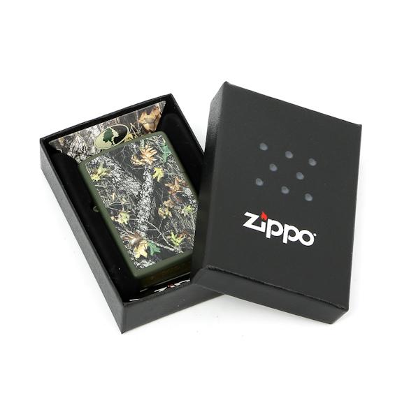 Фото 4 - Зажигалка ZIPPO Mossy Oak, латунь с покрытием Green Matte, зеленый, матовая, 36х12x56 мм