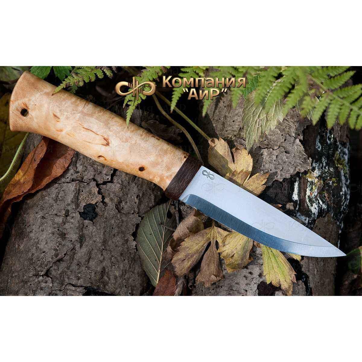 Нож разделочный АиР Кузюк, сталь 100х13м, рукоять карельская береза нож разделочный скинер карельская береза 100х13м аир