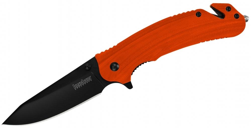 Фото 4 - Складной нож Barricade KERSHAW 8650, сталь 8Cr13MoV, рукоять GFN термопластик, оранжевый