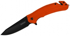 Складной нож Barricade KERSHAW 8650, сталь 8Cr13MoV, рукоять GFN термопластик, оранжевый, фото 1