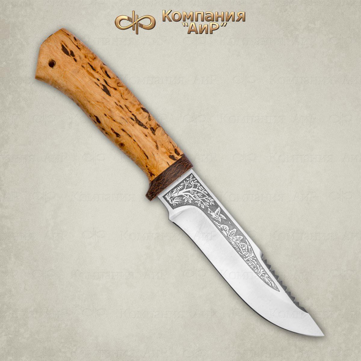 Фото - Нож АиР Стрелец, сталь М390, рукоять карельская береза пчак закат рукоять карельская береза