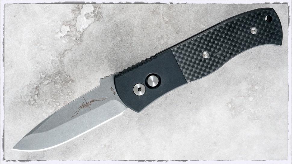 Фото 9 - Автоматический складной нож Pro-Tech Emerson CQC7A, E7A34, сталь 154CM, рукоять алюминий/карбон, чёрный