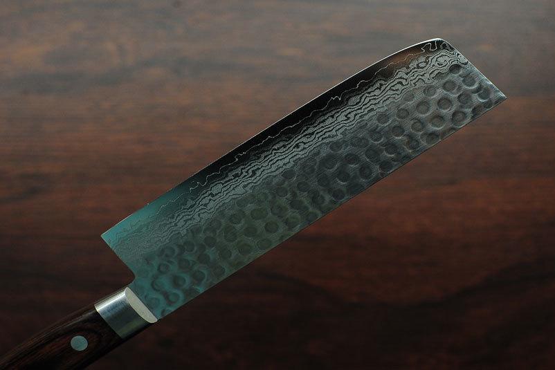 Фото 10 - Нож Накири Sakai Takayuki, сталь VG-10 Damascus, рукоять pakka wood