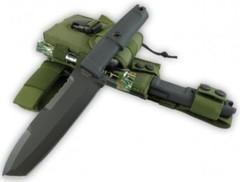 Нож с фиксированным клинком + набор для выживания Ontos, Green Sheath