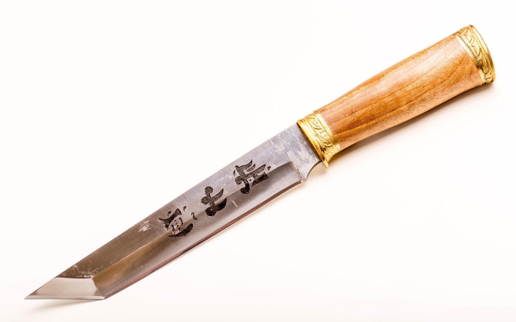 Нож Самурай, Кизляр СТО, сталь 65х13, орех, латунь