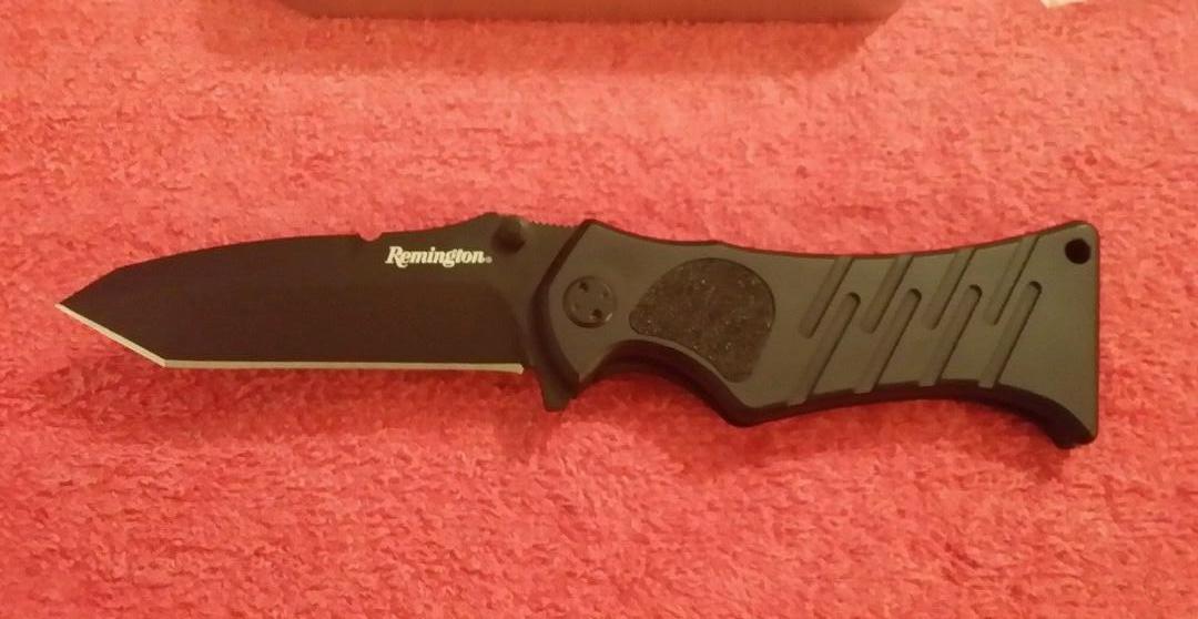Фото 7 - Нож складной Remington Echo II Tanto 8.7 см, сталь 440C Military Coated, рукоять алюминий/термопластик