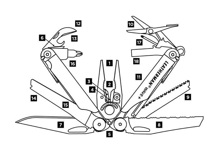 Фото 11 - Мультитул Leatherman  WAVE PLUS с нейлоновым чехлом