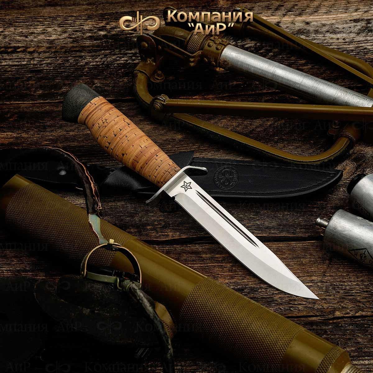 Нож разделочный АиР Штрафбат, сталь Elmax, рукоять береста