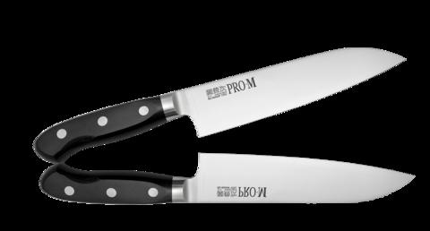 Нож Сантоку Kanetsugu Pro-M 170 мм, сталь 1K6, Tojiro - Nozhikov.ru
