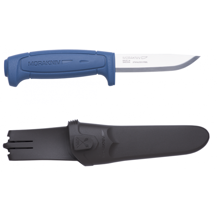 Нож Morakniv Basic 546, синийMora Basic 546 new новинка из бюджетной серии Mora of Sweden. Благодаря небольшой цене этот нож доступен каждому. Обновленная получила более эргономичную рукоятку, которая обеспечивает идеальный захват. Нож Mora Basic 546 new оснастили прочным лезвием из нержавеющей стали.<br>Mora Basic 546, как и большинство ножей Mora of Sweden, комплектуется ножнами, которые также получили новый дизайн. На ножнах есть специальная клипса, которая позволять соединять несколько штук вместе.<br>Не является холодным оружием и не является предметом запрещенным к продаже на территории Российской Федерации.