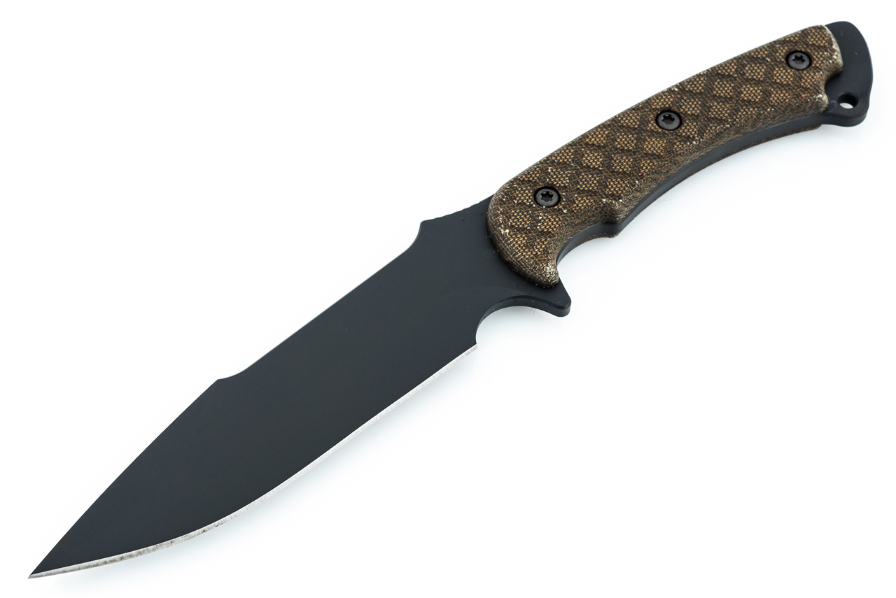 Фото 7 - Нож с фиксированным клинком Spartan Blades Horkos, сталь CPM S35VN, рукоять зеленая микарта, чехол мультикам