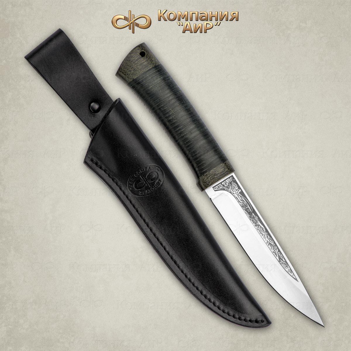 Фото 4 - Нож Пескарь, кожа, 95х18 от АиР
