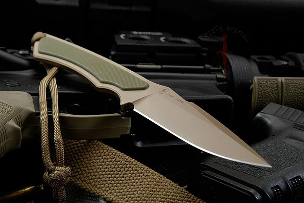 Фото 6 - Нож с фиксированным клинком Spartan Blades Phrike, сталь CPM-S35VN Flat Dark Earth, рукоять зеленый G-10, чехол песочный