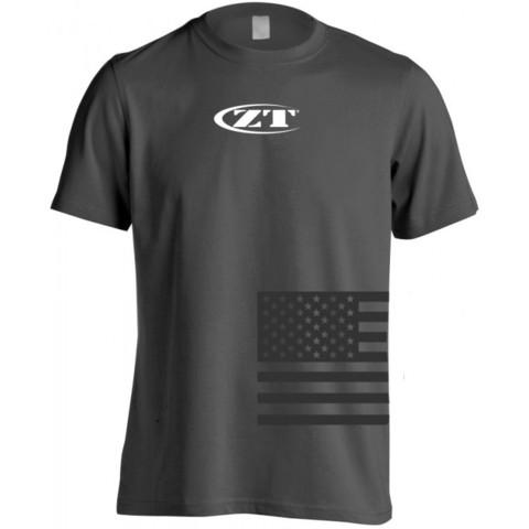 Футболка Zero Tolerance KSHIRTZT182L, размер L, серая. Вид 1