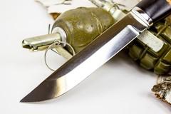 Нож Засапожный-Т, сталь 95х18, береста, фото 3