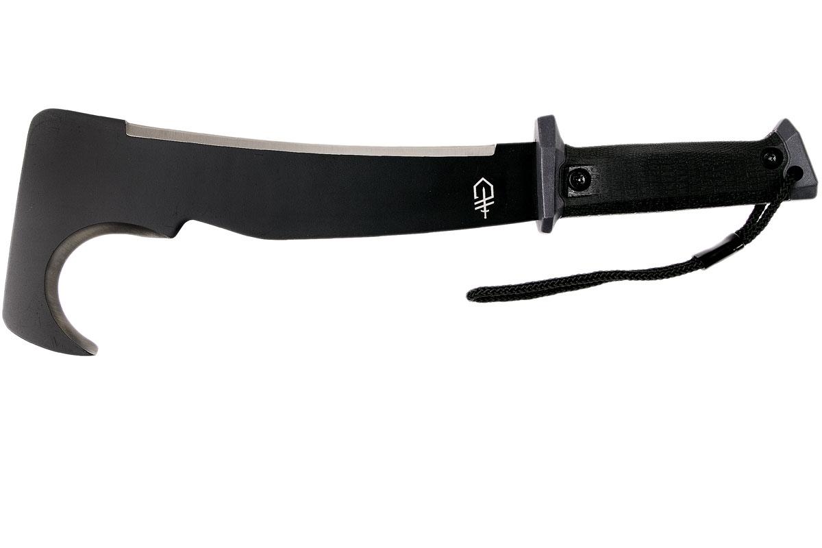 Фото 3 - Мачете-крюк Gerber - Gator Machete Pro, сталь 1050 Carbon Steel Black Finish, рукоять термопластик FRN