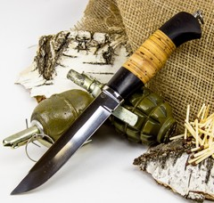Нож Засапожный-Т, сталь 95х18, береста, фото 1