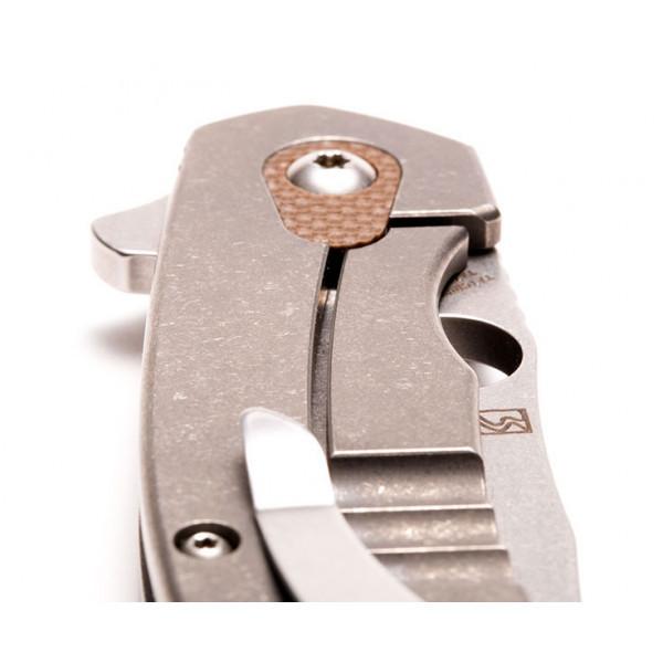 Фото 7 - Нож складной Southard Folder™ - Spyderco 156GPBN, сталь Carpenter CTS™ - 204P Micro-Melt® Alloy Stonewash Plain, рукоять титан/стеклотекстолит G10 коричневый