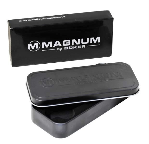 Фото 11 - Нож складной Magnum Carbon Frame - Boker 01RY701, сталь 440A Titanium Nitride Plain, рукоять карбон/титан