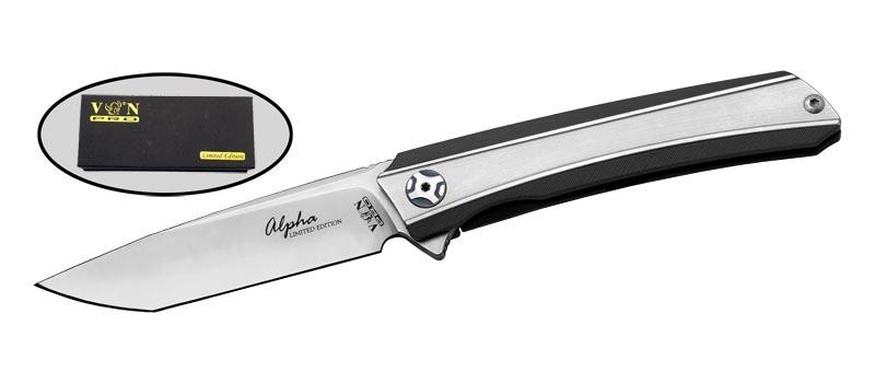 Складной нож Alpha, сталь D2, рукоять титан