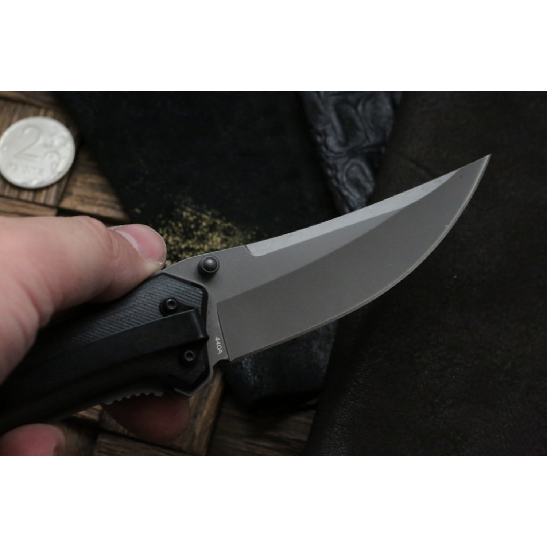 Фото 6 - Складной нож Magnum Nero - Boker 01RY964, сталь 440A Titanium Nitride, рукоять стеклотекстолит G10, серый