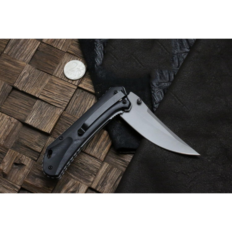 Фото 11 - Складной нож Magnum Nero - Boker 01RY964, сталь 440A Titanium Nitride, рукоять стеклотекстолит G10, серый